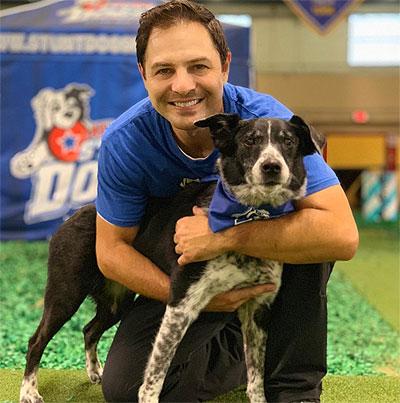 Chris Perondi with Dog