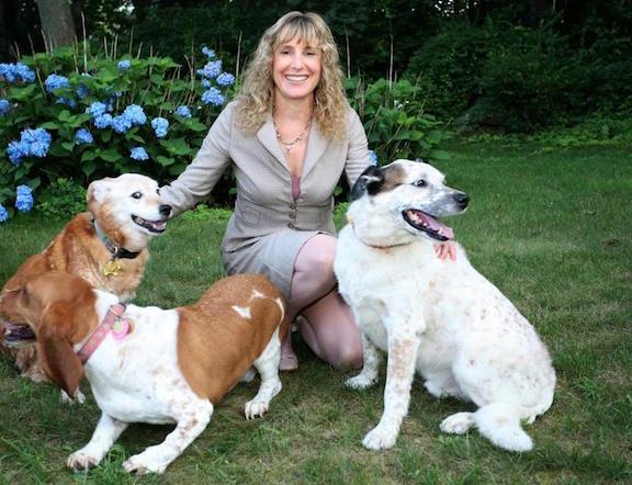 Deborah Howard with Dogs