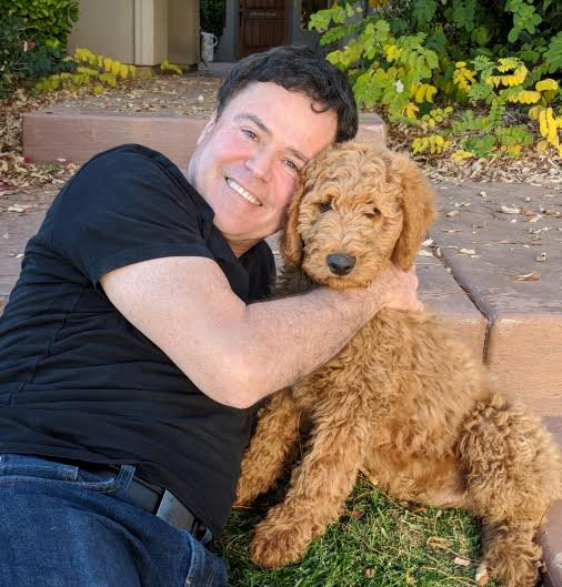 Donny Osmond with Dog