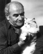 Ed Asner with Cat