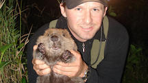Frank Rosell with Beaver