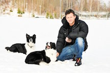 Frank Rosell with Dogs
