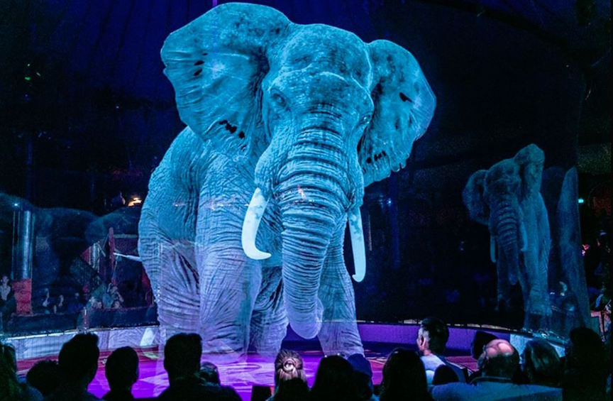 Hologram Circus Elephants