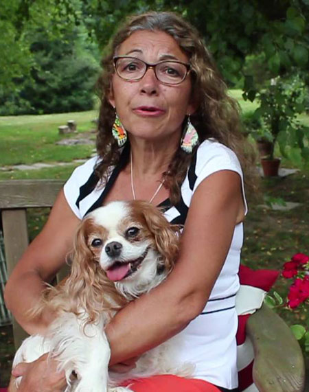 Dr. Judy Morgan With Dog