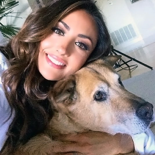 Katie Cleary with Dog