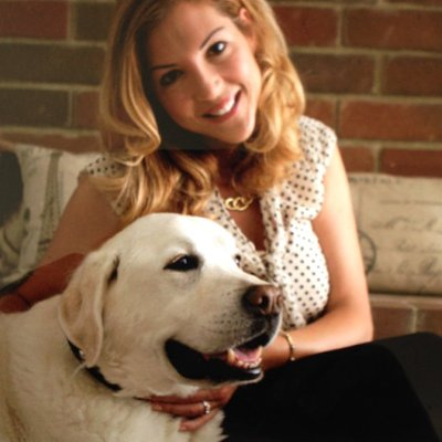 Laura Vorreyer with Dog