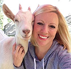 Leanne Lauricella with Goat