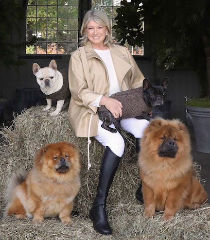 Martha Stewart with Dogs