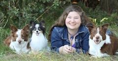 Monique Feyrecilde with Dogs