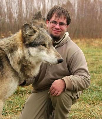 Nick Hof with Dog