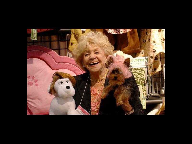 Ruth Regina and Dog Wearing Wig