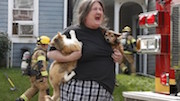 Woman Save Pets From Fire
