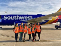 Southwest Plane and Volunteers
