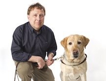 Stephen Kuusisto with Dog
