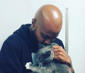 Sterling Davis with Cat