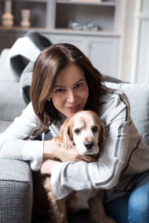 Lisa Baronoff with Dog