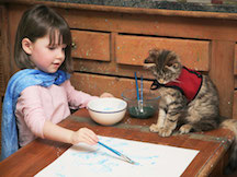 Painting with Cat