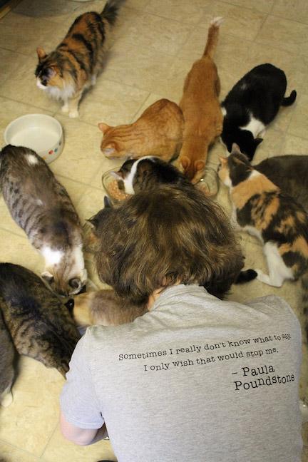 Paula Poundstone with Many Cats